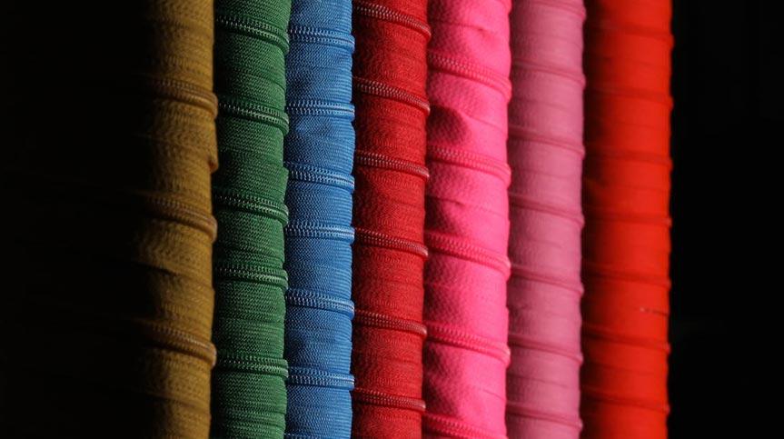 Renkli Fermuar Ruloları